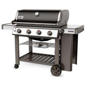 Barbecue gaz Weber Genesis II E-410 noir avec plancha offerte. Système de grillades GS4. PLANTES-ET-JARDINS – Jardinerie en ligne
