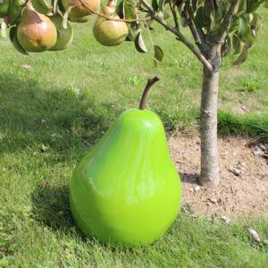 Poire décorative L24 H37,5 cm résine vert PLANTES-ET-JARDINS – Jardinerie en ligne