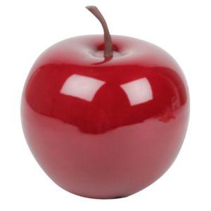 Pomme décorative Ø25 cm résine rouge PLANTES-ET-JARDINS – Jardinerie en ligne