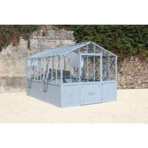 Serre Classique en verre trempé 14.60 m² gris – Lams