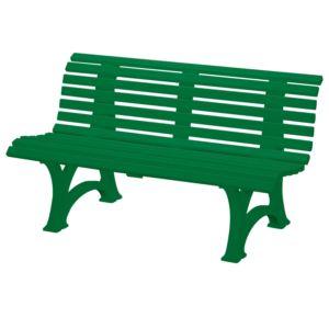 Banc résine Neptune L150 cm vert PLANTES-ET-JARDINS – Jardinerie en ligne