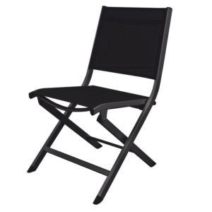 Chaise pliante Kettler Lille aluminium/textilène anthracite PLANTES-ET-JARDINS – Jardinerie en ligne