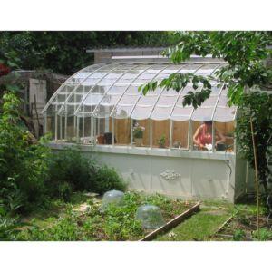 Serre adossée Chambord en verre trempé 10.64 m² gris – Lams