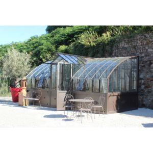 Serre Mirabeau en verre trempé 10.64 m² – Lams