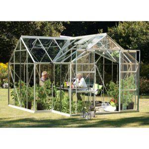 Serre Orangerie en verre trempé 13 m² gris – Lams