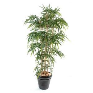 Bambou New 7 chaumes, 2m10 (tronc naturel, feuillage artificiel) + pot classique ()