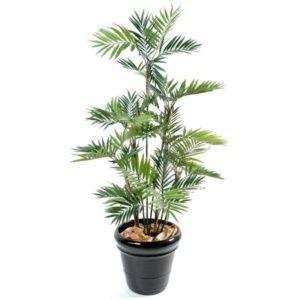 Palmier Parlour 13 chaumes 180 cm (tronc naturel, feuillage artificiel) + pot classique ()