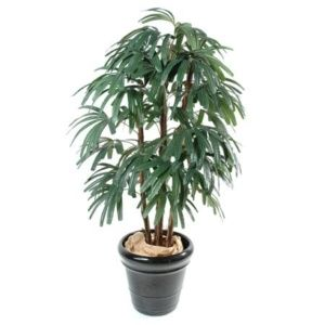 Palmier raphis, 1m80 (tronc naturel, feuillage artificiel) + pot classique ()
