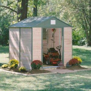 Abri de jardin bois et acier 7,60 m² Ep. 12 mm