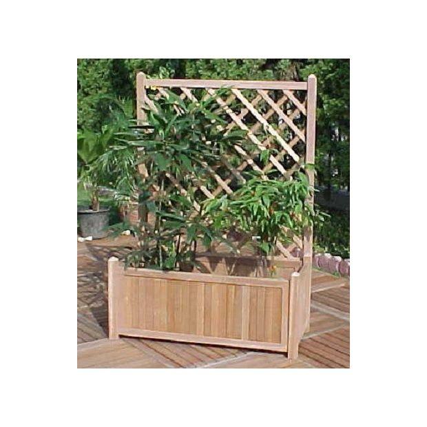bac plantes timber avec treillis int gr mod le xl. Black Bedroom Furniture Sets. Home Design Ideas