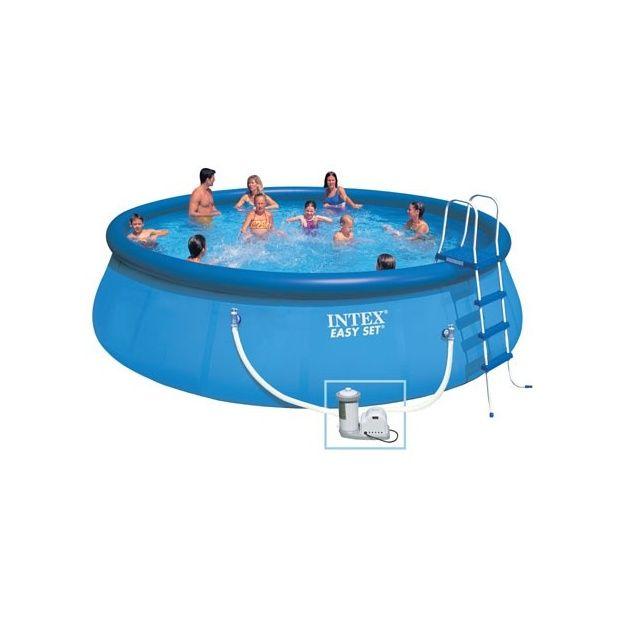 Kit piscine autoportante easy set intex d 5 49 m x h 1 - Piscine autoportante intex easy set ...