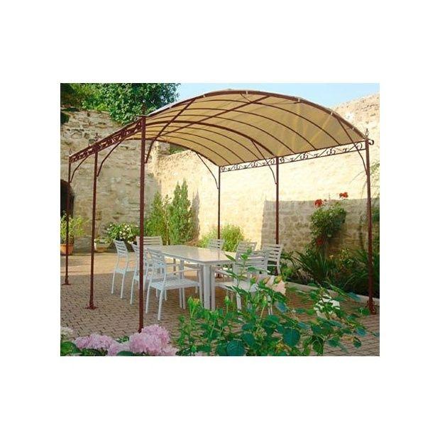 tonnelle autoportante seville 4 x 3m en fer forg galvanis toile acrylique 220g m plantes. Black Bedroom Furniture Sets. Home Design Ideas