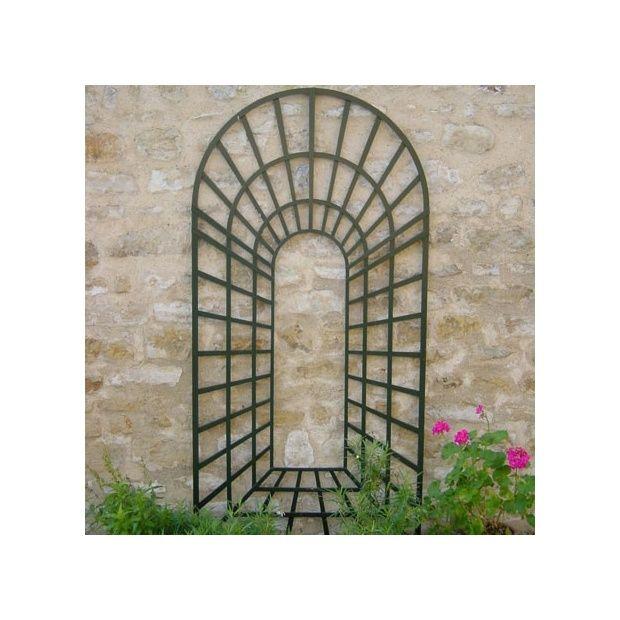 trompe l 39 oeil laqu vert l 1 x h 2 m plantes et jardins. Black Bedroom Furniture Sets. Home Design Ideas