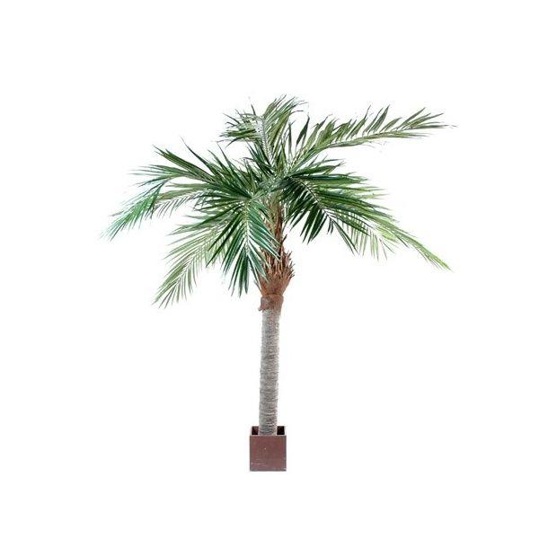 Palmier majesty tronc fibre de verre feuillage for Bambou artificiel 2m