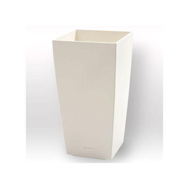 cache pot cubico blanc c 244 t 233 30 cm x hauteur 56cm lechuza plantes et jardins