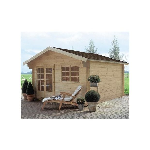 Abri de jardin en bois michigan 34 mm m hors tout for Abri de jardin en bois avec plancher