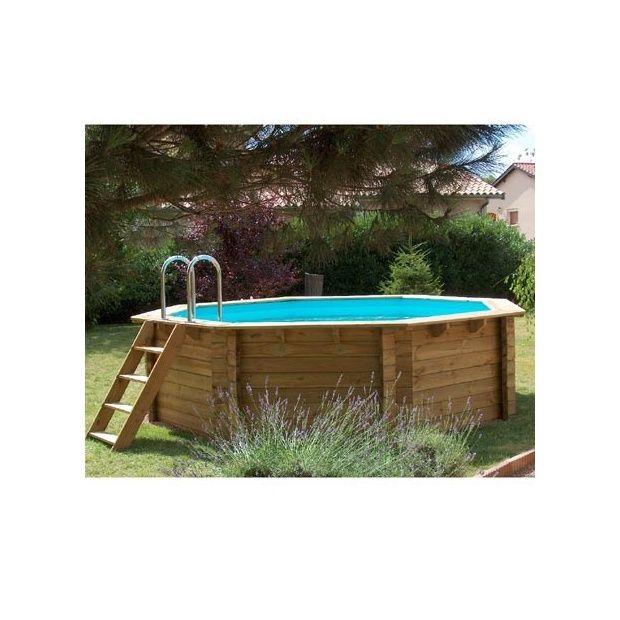 piscine hors sol en bois nortland samoa 430 plantes et