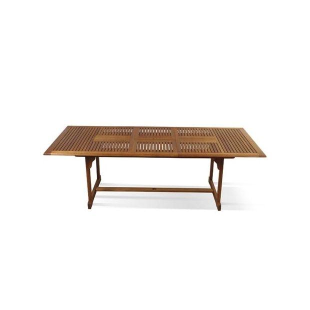 table rectangulaire 90x190 240 avec rallonge papillon en eucalyptus plantes et jardins. Black Bedroom Furniture Sets. Home Design Ideas
