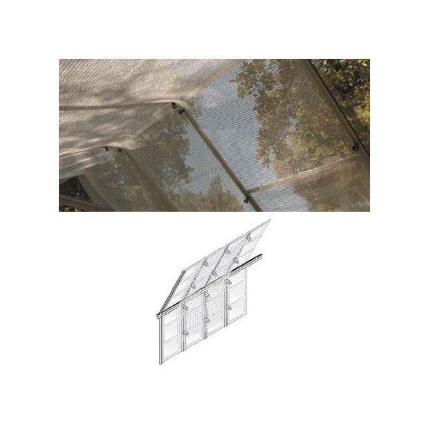 rideau de soleil toile d 39 ombrage pour serres fixations plantes et jardins. Black Bedroom Furniture Sets. Home Design Ideas