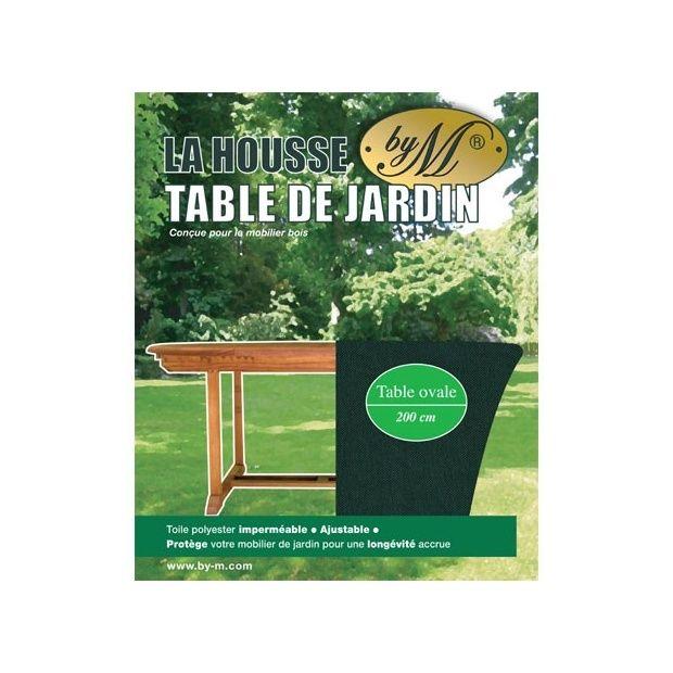 Housse pour table de jardin by m 200cm x 110cm plantes for Housse pour table de jardin ovale 200 cm