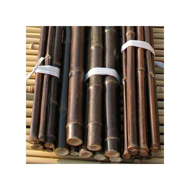 lot de 10 tiges en bambou noir longueur 260 cm diam 2 2 2cm plantes et jardins. Black Bedroom Furniture Sets. Home Design Ideas