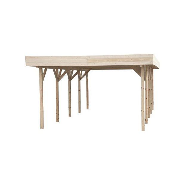 carport autoportant bois massif pefc 685 x 338 cm toit. Black Bedroom Furniture Sets. Home Design Ideas