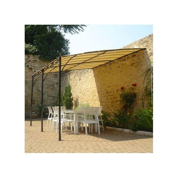 toile 2x3m pour tonnelle adoss e fer forg plantes et. Black Bedroom Furniture Sets. Home Design Ideas