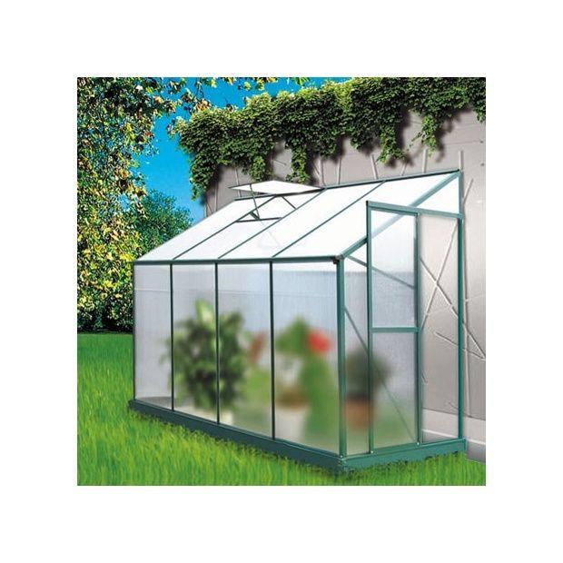 serre de jardin adoss e 3 71m lis en polycarbonate lams plantes et jardins. Black Bedroom Furniture Sets. Home Design Ideas