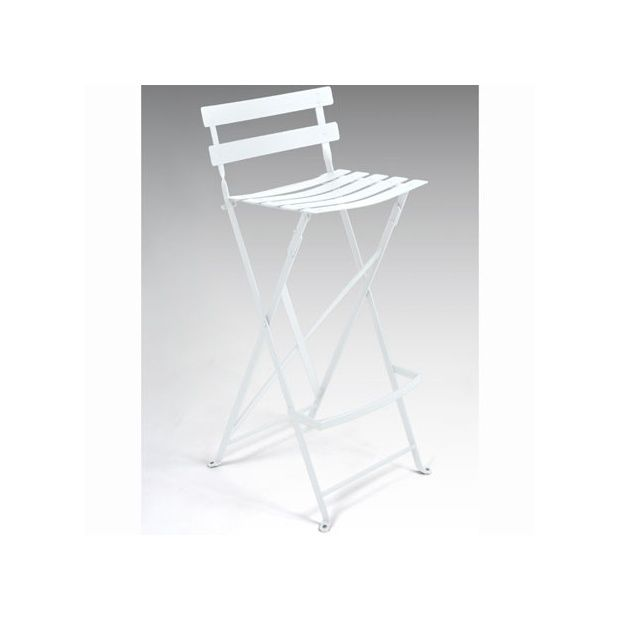 tabouret haut pliant bistro en m tal blanc fermob. Black Bedroom Furniture Sets. Home Design Ideas