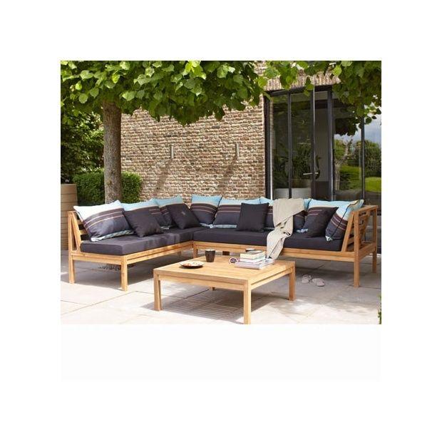 salon bas en teck dunya plantes et jardins. Black Bedroom Furniture Sets. Home Design Ideas