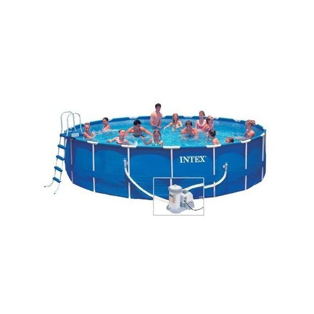 Kit piscine metal frame pool intex x for Kit piscine intex