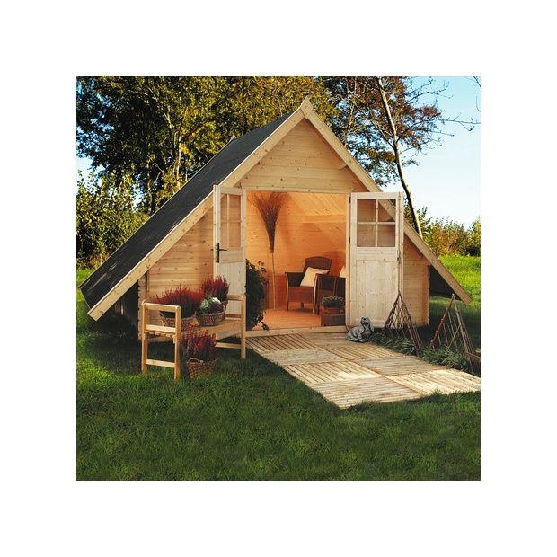 Abri de jardin en bois 28 mm dax m hors tout for Abri de jardin en bois avec plancher
