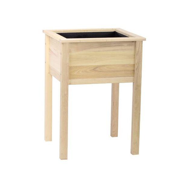 bac potager de balcon en acacia 61x56x85 cm cyprus. Black Bedroom Furniture Sets. Home Design Ideas