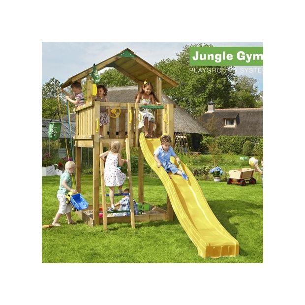 tour de jeux bois pour enfant jungle gym chalet avec. Black Bedroom Furniture Sets. Home Design Ideas