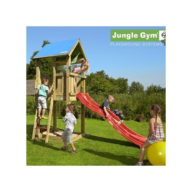 tour de jeux bois pour enfant jungle gym castle sans toboggan plantes et jardins. Black Bedroom Furniture Sets. Home Design Ideas