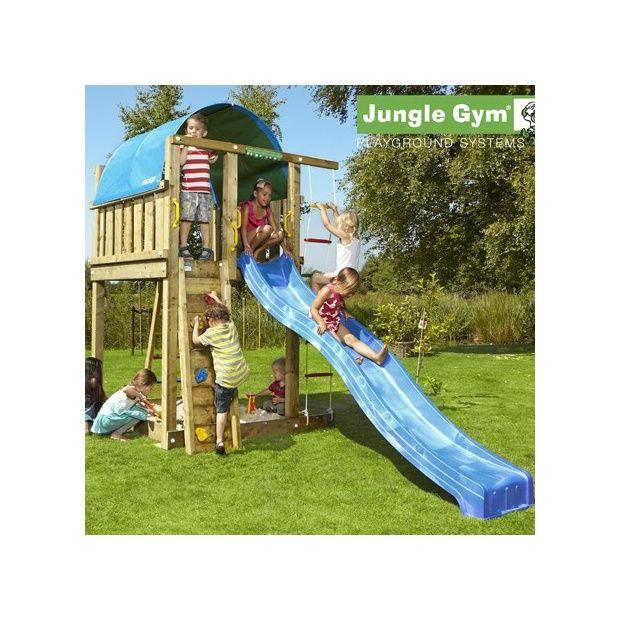 tour de jeux bois pour enfant jungle gym villa avec toboggan plantes et jardins. Black Bedroom Furniture Sets. Home Design Ideas