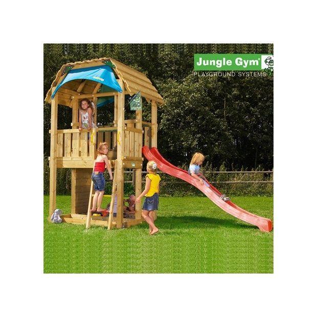 tour de jeux bois pour enfant jungle gym barn avec toboggan plantes et jardins. Black Bedroom Furniture Sets. Home Design Ideas
