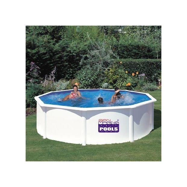 Kit piscine acier san marina 460 x h 120cm gr for Poolfolie 460 x 120