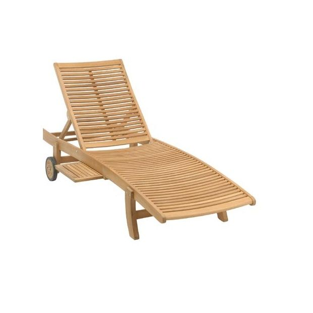 chaise longue en teck fsc lake moraine plantes et jardins. Black Bedroom Furniture Sets. Home Design Ideas