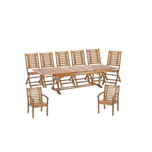 salon de jardin en bois exotique 8 places lake sylva plantes et jardins. Black Bedroom Furniture Sets. Home Design Ideas