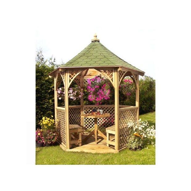 Kiosque de jardin Vivaldi - bois PEFC - Jagram - Plantes et Jardins