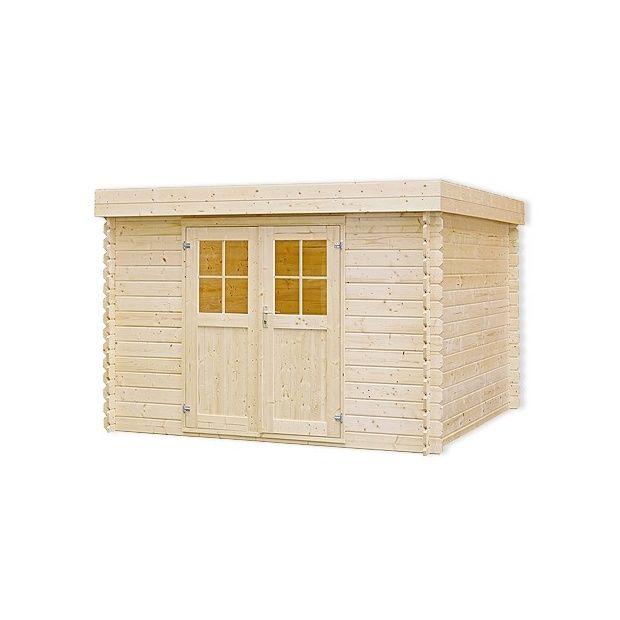 Abri de jardin toit plat 9 7 m bois massif 28mm plantes et jardins - Abri jardin toit plat m creteil ...