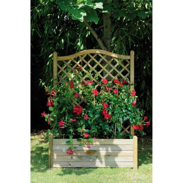 bac fleurs avec treillis bois trait lierre l80 h152 cm plantes et jardins. Black Bedroom Furniture Sets. Home Design Ideas