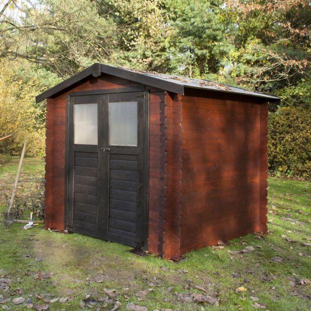petit abri de jardin bois 4 90 m mm milovic plantes et jardins. Black Bedroom Furniture Sets. Home Design Ideas