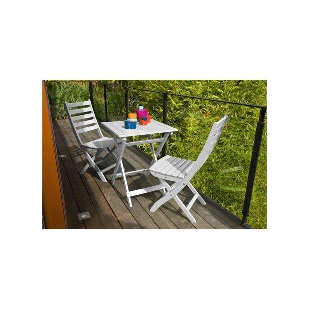 Salon de jardin blanc et bois avec des id es int ressantes pou - Salon jardin 2 personnes ...