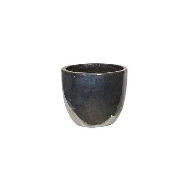 Pot c ramique maill e metal glaze 39 partner 39 70 plantes for Pot ceramique exterieur