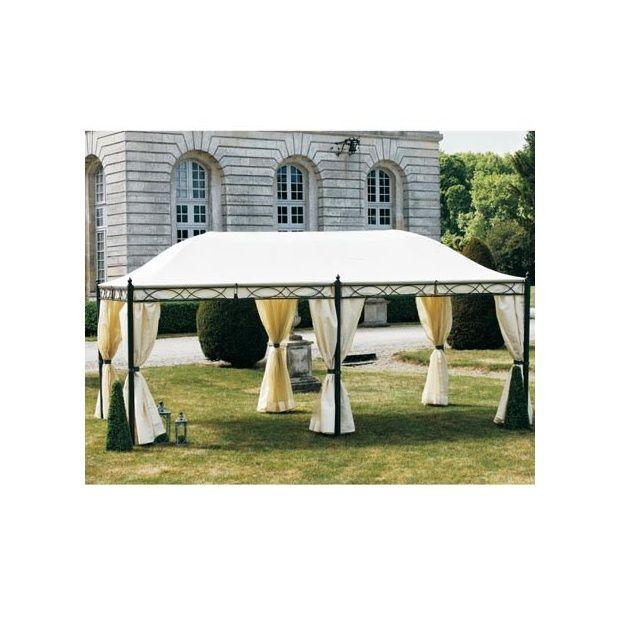 Pavillon de jardin Lucia 3 x 5.9 x 2.83 m - Ecru - Plantes ...