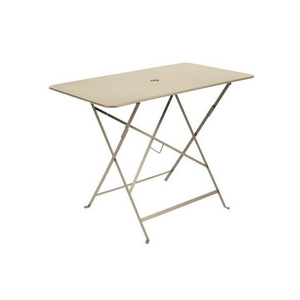 table pliante fermob bistro l97 l57 cm acier muscade plantes et jardins. Black Bedroom Furniture Sets. Home Design Ideas