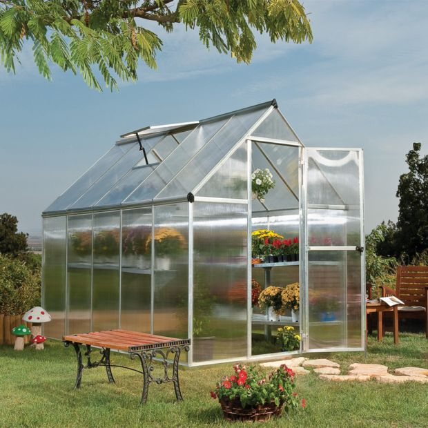 serre de jardin mythos polycarbonate 5 70 m embase palram plantes et jardins. Black Bedroom Furniture Sets. Home Design Ideas