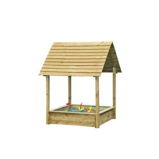 bac sable en bois avec toit et couvercle selma park. Black Bedroom Furniture Sets. Home Design Ideas